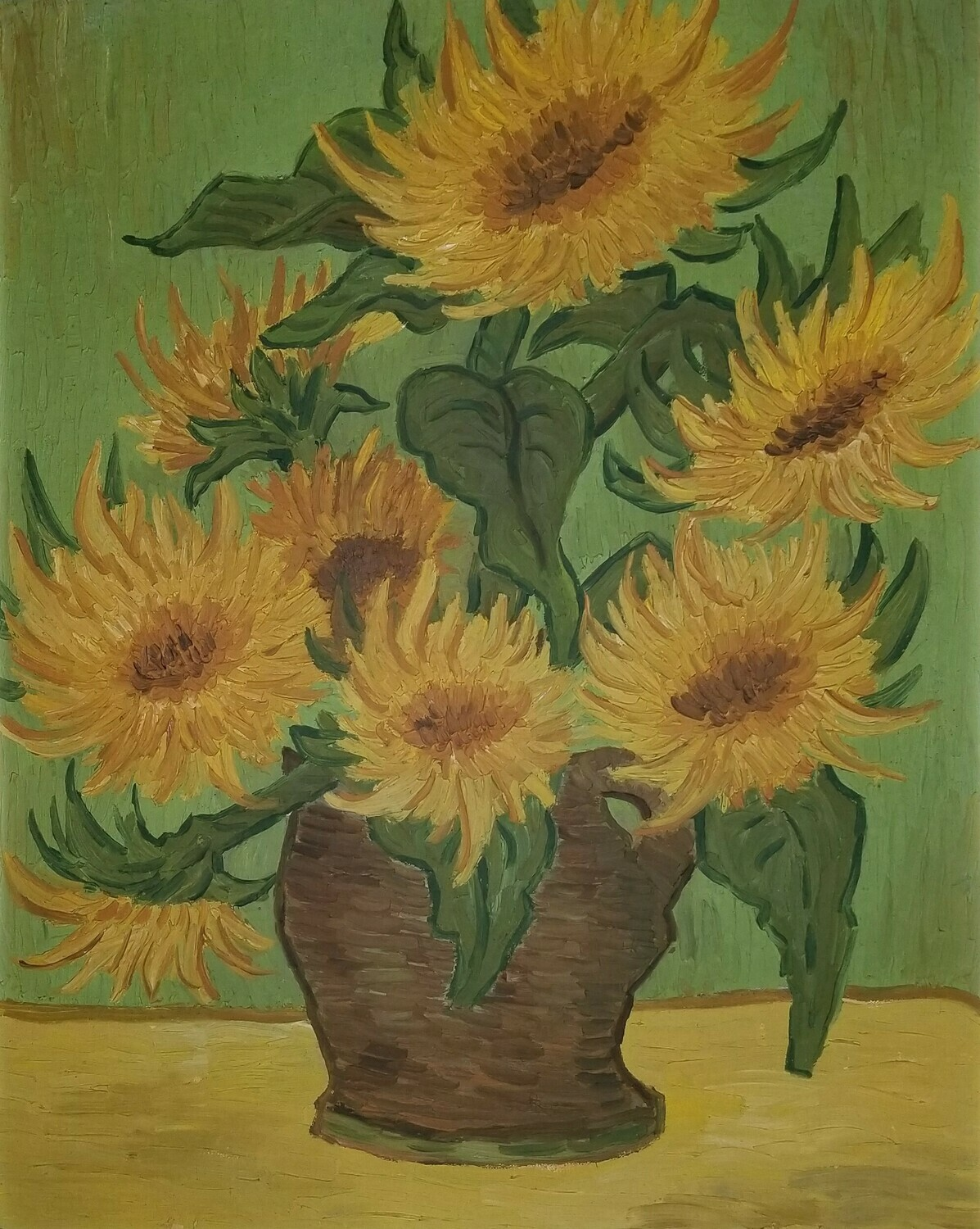 Sun Flowers (original painting) 19x20