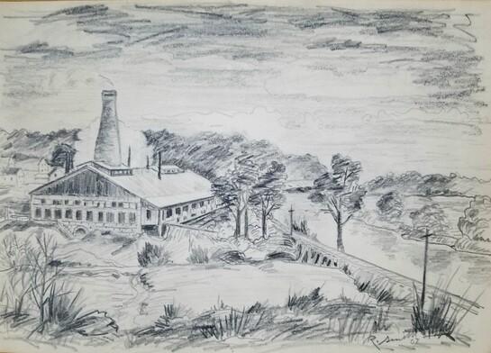 Glass Plant - Buckhannon, Upshur Co. WV [original drawing]