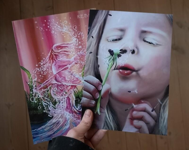 Almindelige prints str a5 ( 15 x 21 cm)