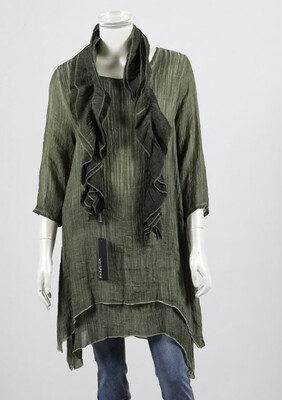 3/4 Sleeve Tunic With Scarf