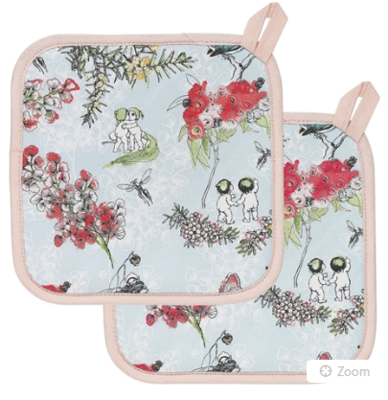 Blossom Set Of 2 Pot Holders