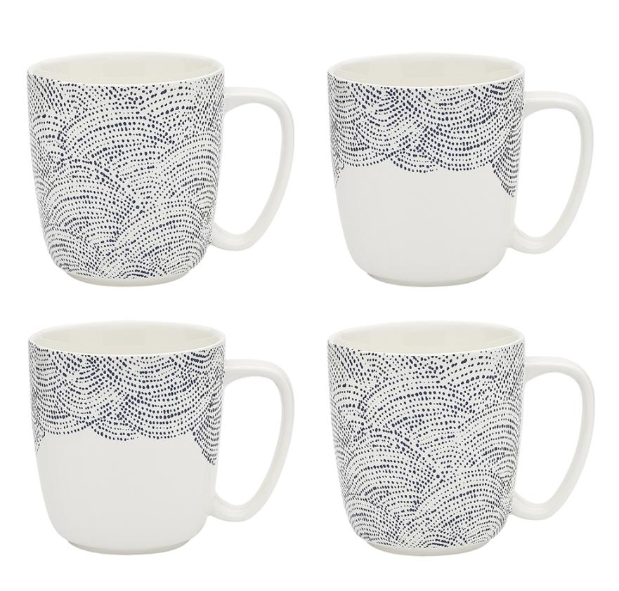 Adriatic Set Of 4 Mugs