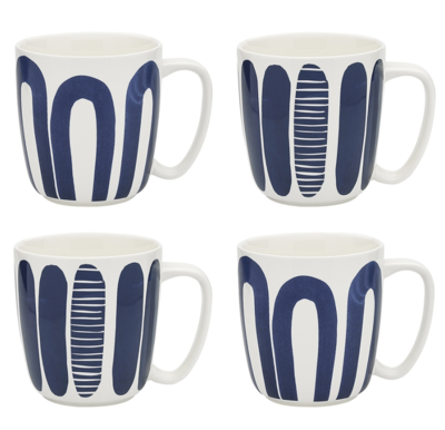 Maya Set Of 4 Mugs