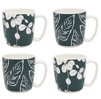 House Plants Set of 4 Mugs