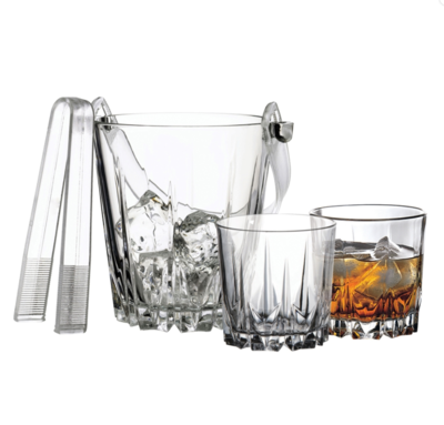 Karat 7PC Whiskey Set W/Tongs
