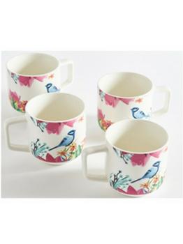 Bluebird Mugs Set