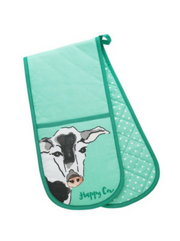 Symphony Funny Farm Happy Cow Double Oven Glove