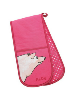 Symphony Funny Farm Pig Out Double Oven Glove