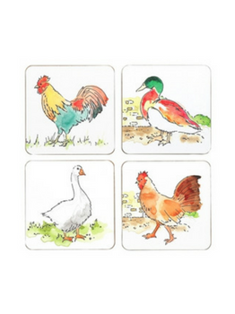 Symphony Pecking Order Coasters Set of 4