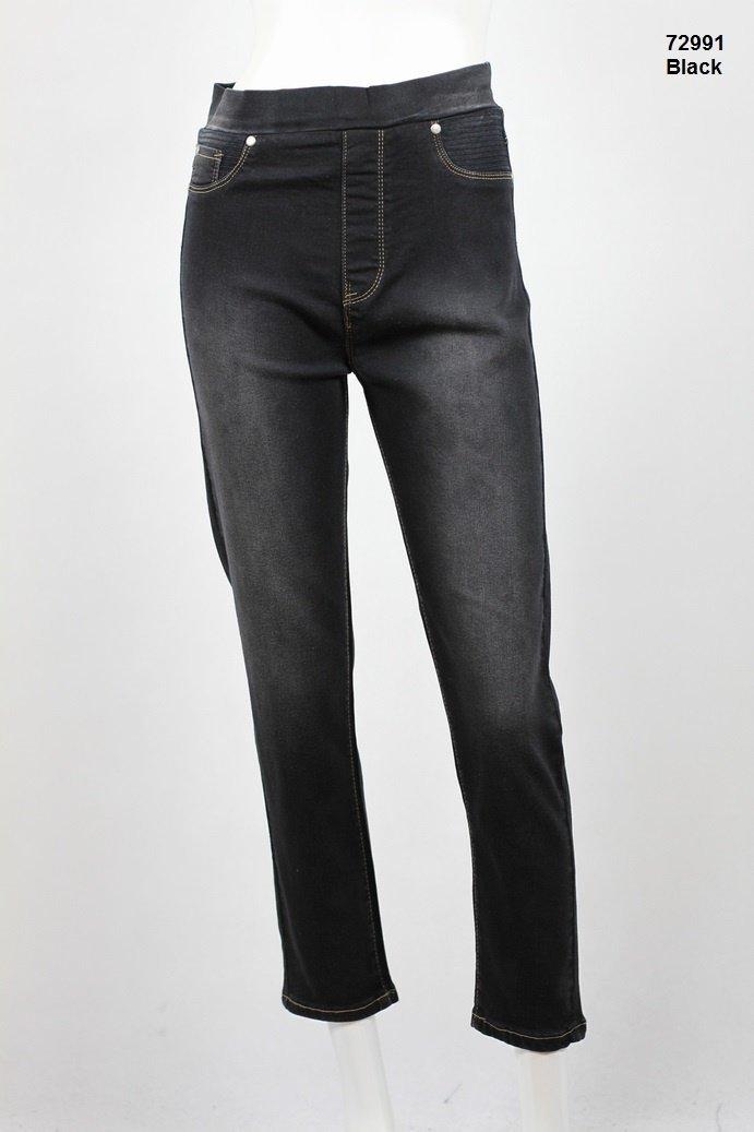 7/8 length pull on jean