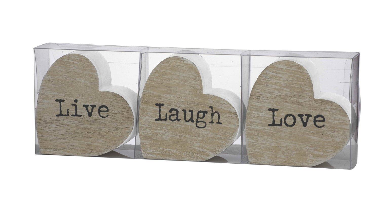 Live Laugh Love Heart Sculptures