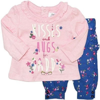 Baby girls l/s top & trouser set