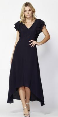 Milan ruffle high-low dress