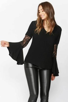 Love lace bell blouse
