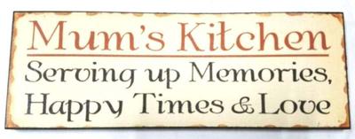 'Mums Kitchen' Plaque