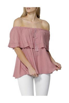 Ellis Ruffle Off Shoulder Top