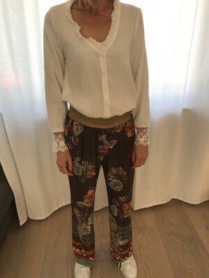 Pantalon imprimé fleuri La Fée Maraboutée