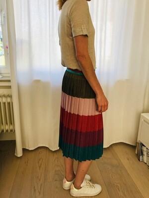 Jupe plissée multicolore rayures La Fée Maraboutée
