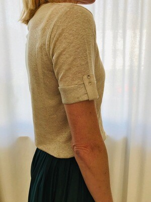 Tshirt lin MC beige La Fée Maraboutée