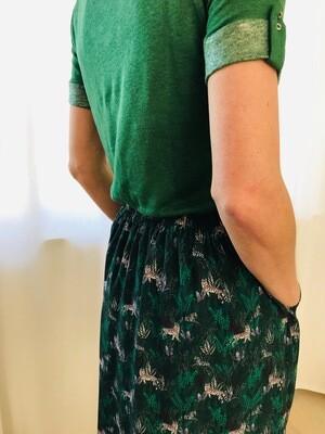 Tshirt lin MC vert La Fée Maraboutée