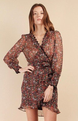 Robe courte voile liberty Lenny B