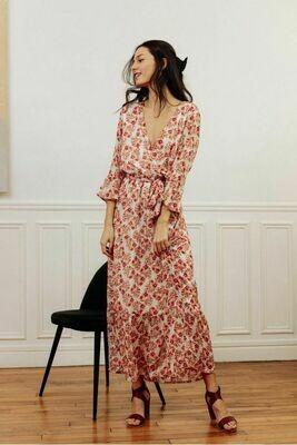 Robe longue imprimée fleurs La Petite Etoile