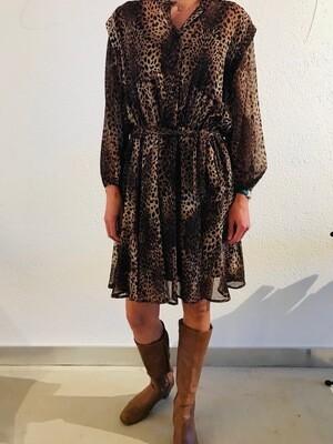 Robe courte fluide leopard Imperial