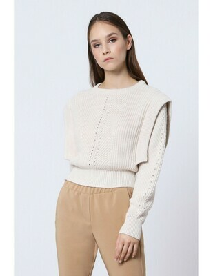 Pull cropped laine melangee Imperial