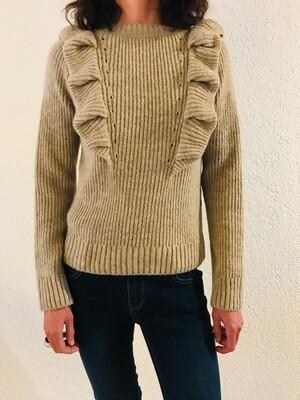 Pull avec volants laine melangee Imperial