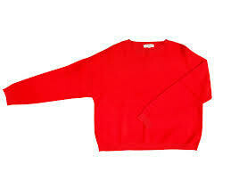 Pull ample col rond ML rouge Yuka