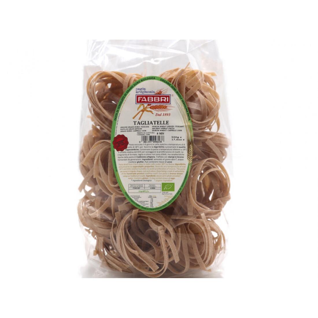Tagliatelle di grano Senatore Cappelli bio 500 gr - Pastificio Fabbri