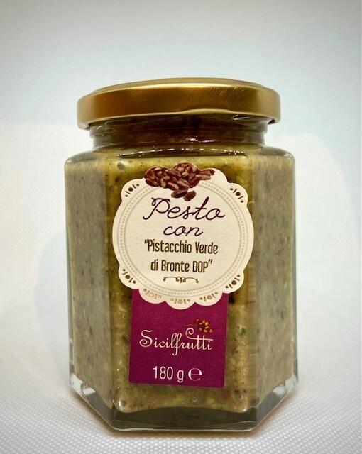 Pesto con pistacchio verde di Bronte DOP Sicilfrutti - gr 180