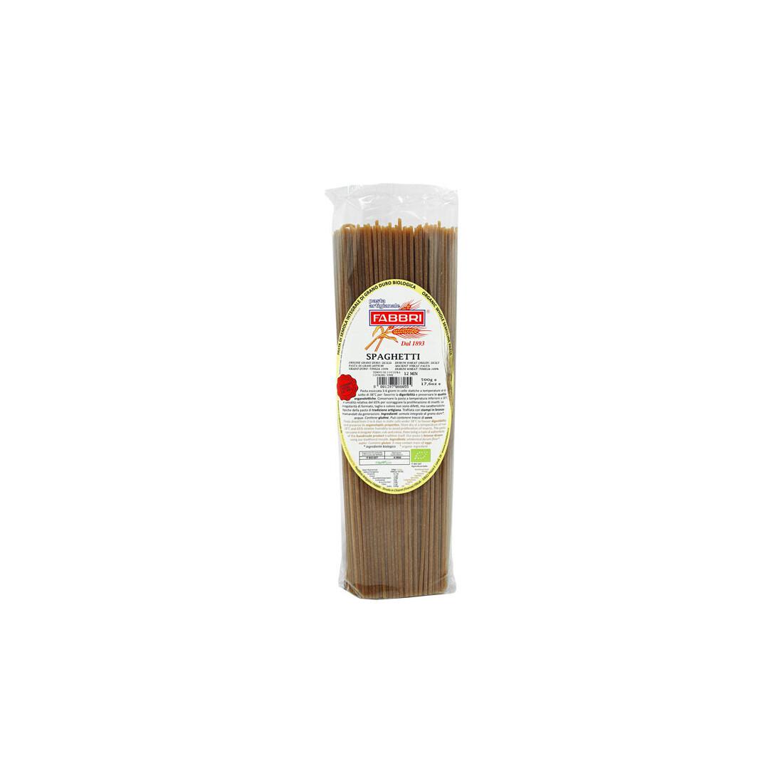 Pasta integrale bio 100% grano timilia 500 gr- Pastificio Artigianale Fabbri