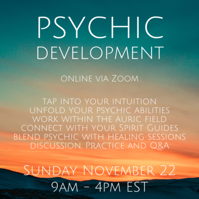 Psychic Development November 22