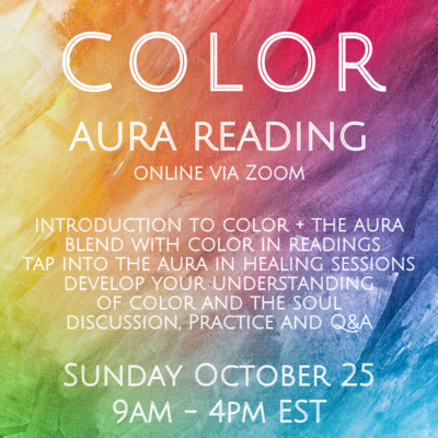 Color + Aura Reading October 25