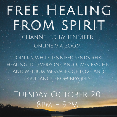 FREE Healing from Spirit with Jennifer