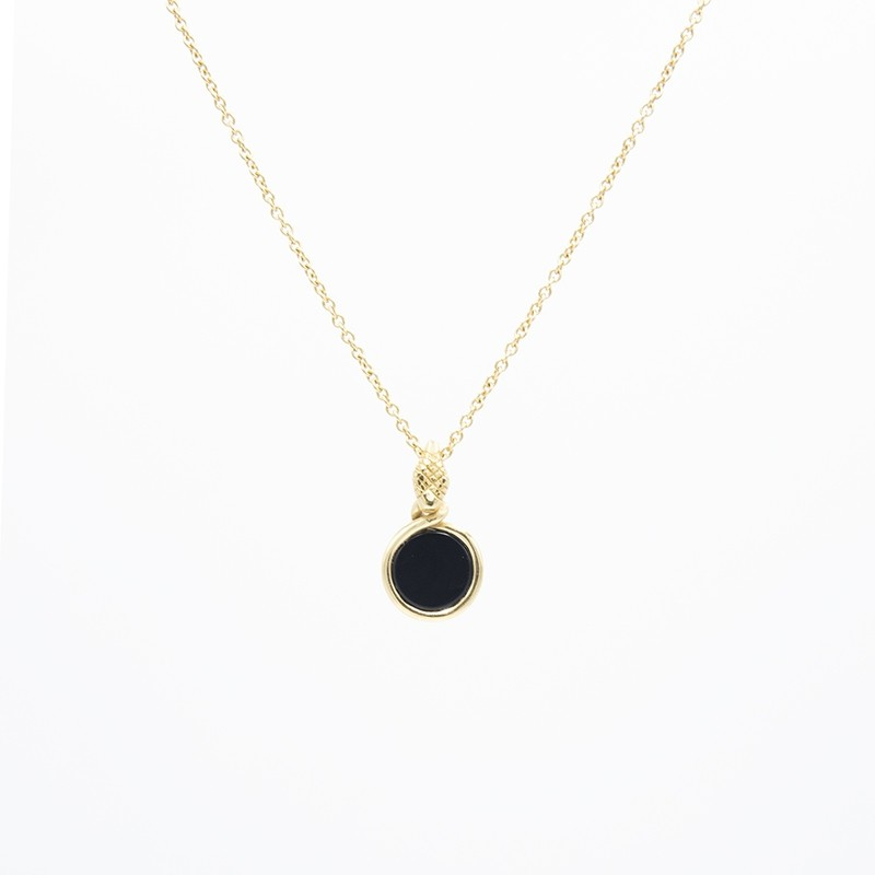 Collana Pendente Ouroboro Stone - Giulia Barela Jewelry