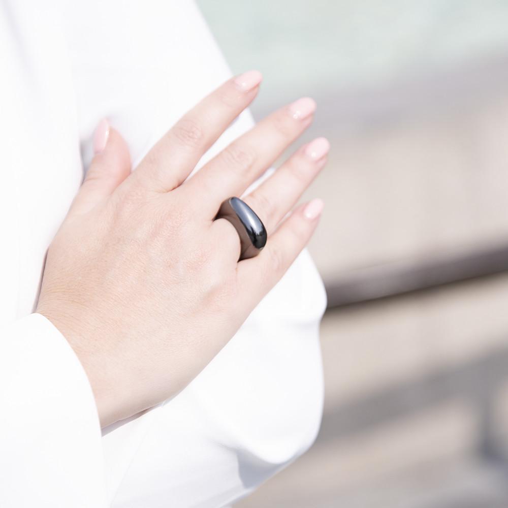 Anello Moore Black Rhodium - Giulia Barela Jewelry