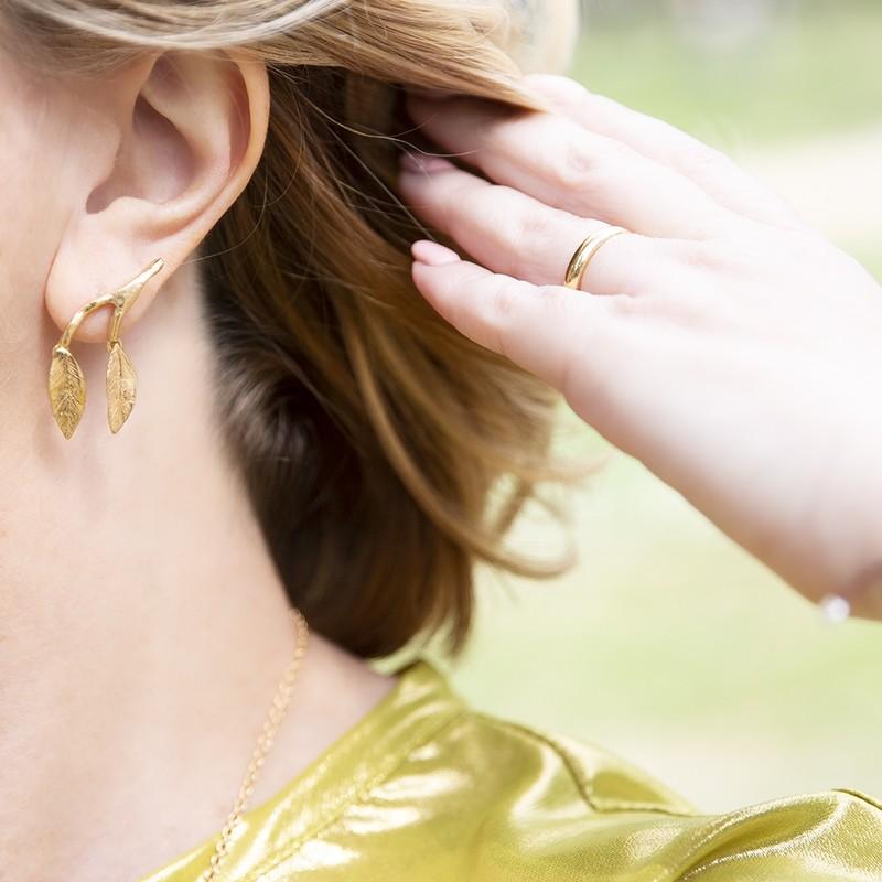 Orecchini Mobile Leaves Medium - Giulia Barela Jewelry