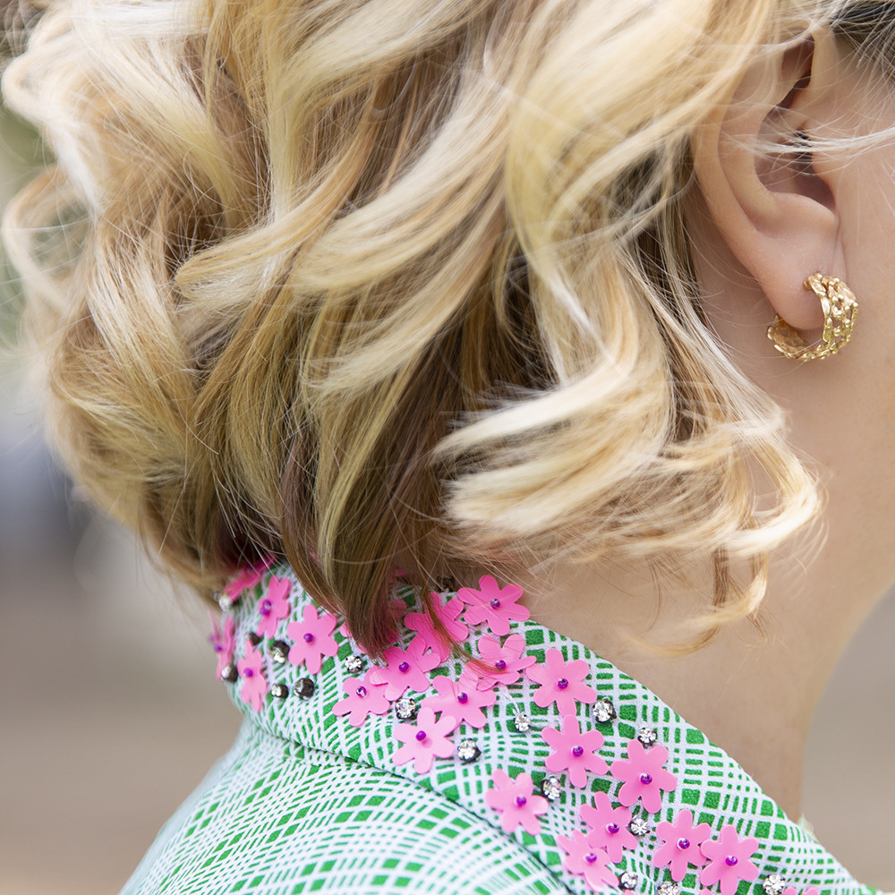Orecchini Hoop Small Pebbles -  Giulia Barela Jewelry