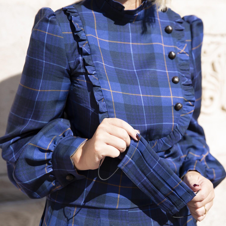 Blusa Tartan Blue - Luluredgrove