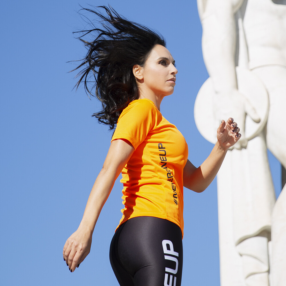 T-Shirt Donna Run Orange