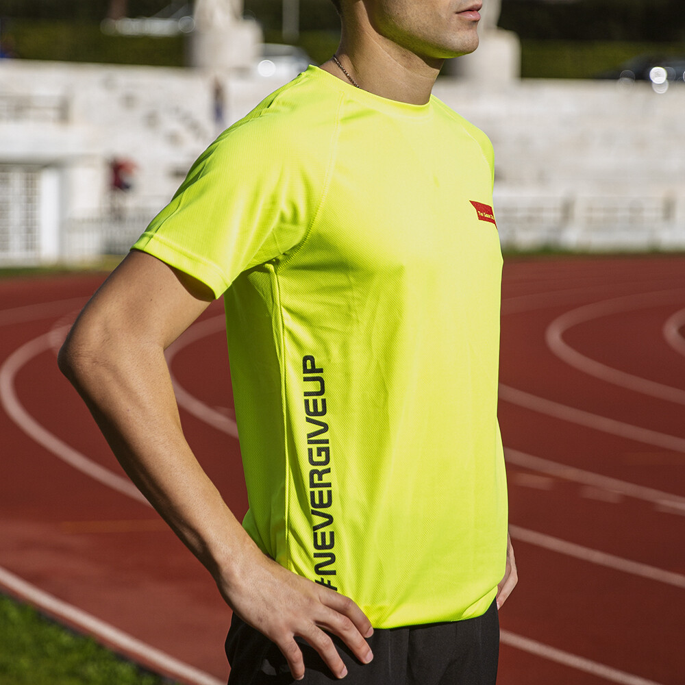 T-Shirt Uomo Run Yellow