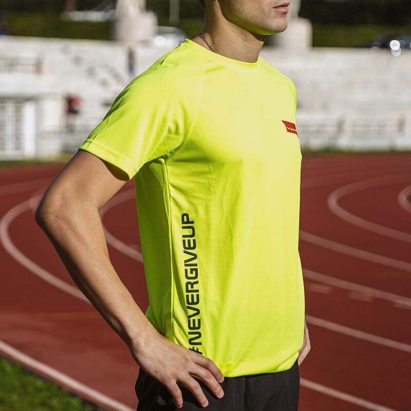 T-Shirt Uomo Run Yellow