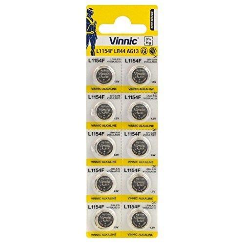 Vinnic LR44 , 1.5V, ΑΛΚΑΛΙΚΕΣ ΜΠΑΤΑΡΙΕΣ (10άδα)