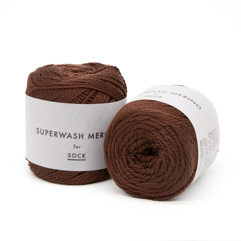 superwash merino коричневый 07