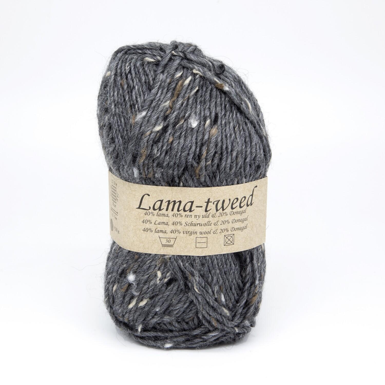 lama tweed серый темный 6520