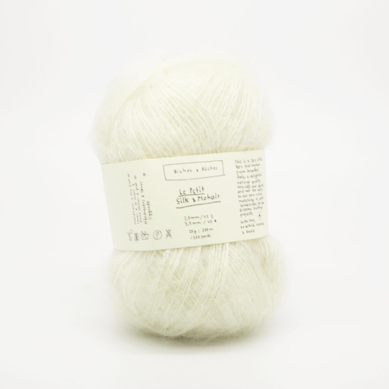 silk & mohair off white натуральный белый