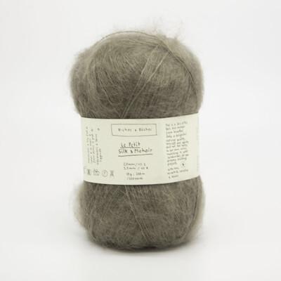 silk & mohair grey brown серо-коричневый