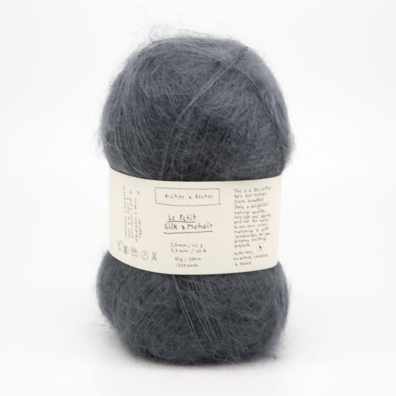 silk & mohair dark blue тёмный синий